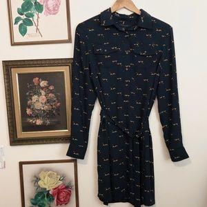 Tommy Hilfiger Basset Hound Tie Waist Dress